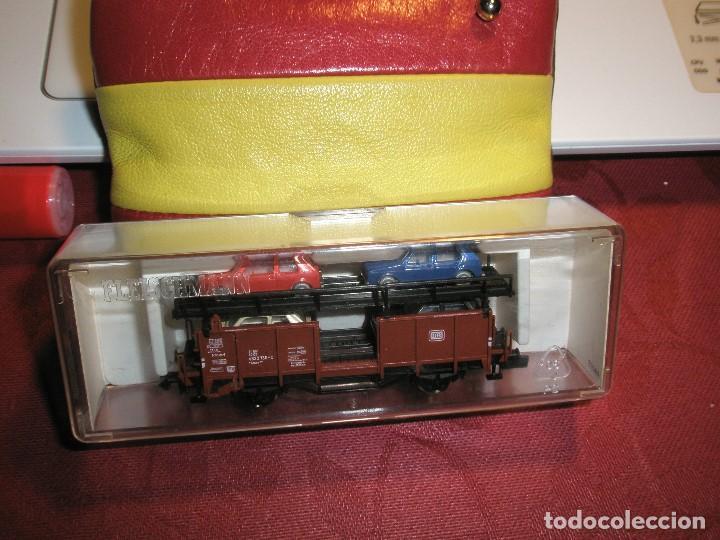 Trenes Escala: 1 UN VAGON FLEICSCHMANN ESCALA N REF:8224 TRANSPORTE DE 4 COCHES NUEVO - Foto 2 - 154477122