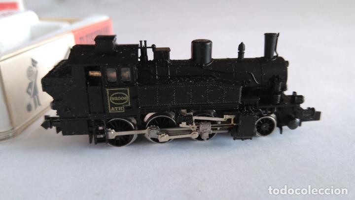 Trenes Escala: FLEISCHMANN PICOLO N LOCOMOTORA VAPOR CON LUCES. MUY BUEN ESTADO. EN CAJA.VÁLIDA IBERTREN 2N - Foto 4 - 155506474