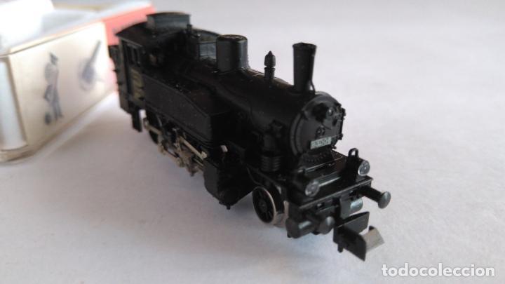 Trenes Escala: FLEISCHMANN PICOLO N LOCOMOTORA VAPOR CON LUCES. MUY BUEN ESTADO. EN CAJA.VÁLIDA IBERTREN 2N - Foto 5 - 155506474