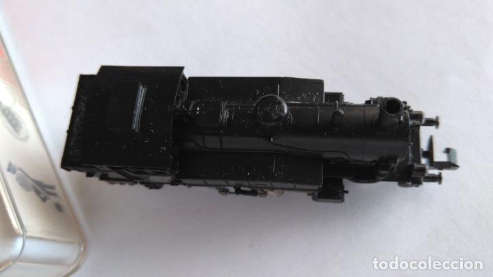 Trenes Escala: FLEISCHMANN PICOLO N LOCOMOTORA VAPOR CON LUCES. MUY BUEN ESTADO. EN CAJA.VÁLIDA IBERTREN 2N - Foto 6 - 155506474