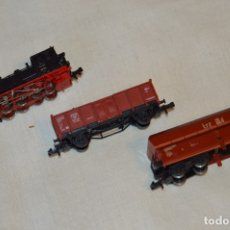 Trenes Escala: PRECIOSA - FLEISCHMANN PICCOLO REF. 7098 - LOCOMOTORA TENDER BR 98 811 DRG + 2 VAGONES ¡MIRA!. Lote 166930836