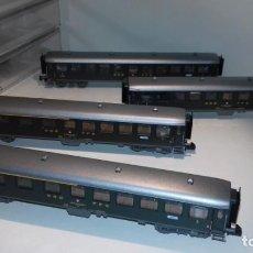Trenes Escala: FLEISCHMANN N 4 VAGONES PASAJEROS SBB (CON COMPRA DE 5 LOTES O MAS, ENVÍO GRATIS). Lote 168202732