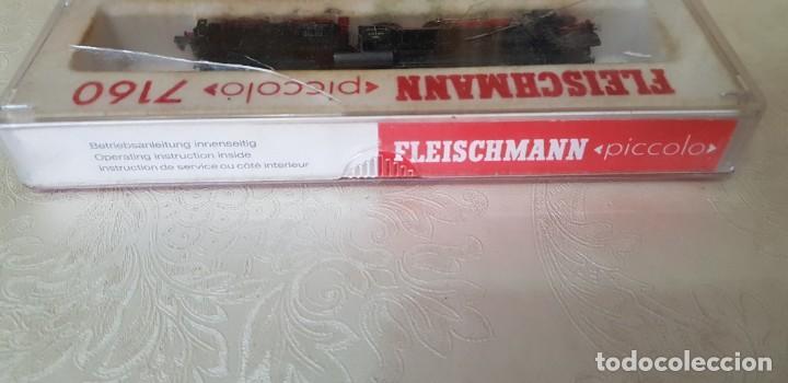 Trenes Escala: LOTE DE DOS LOCOMOTORAS FLEISCHMANN UNA PICCOLO 7160 EN SU CAJA ORIGINAL, LA OTRA NO SÉ EL MODELO. - Foto 16 - 171839595