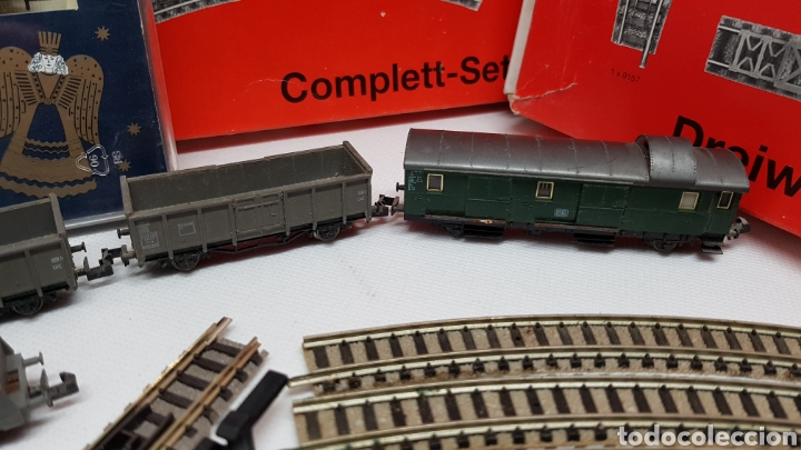 Trenes Escala: GRAN LOTE FLEISCHMANN + LECKERMAUL ARNOLD Y VIAS ESCALA N CON CAJAS Y DOCUMENTACION - Foto 7 - 174526265