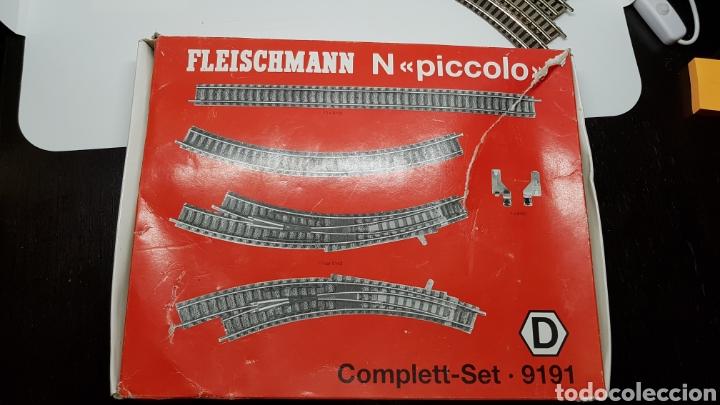 Trenes Escala: GRAN LOTE FLEISCHMANN + LECKERMAUL ARNOLD Y VIAS ESCALA N CON CAJAS Y DOCUMENTACION - Foto 12 - 174526265