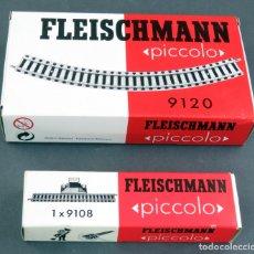 Trenes Escala: 2 CAJAS VACÍAS VÍAS FLEISCHMANN PICCOLO REF 9120 9108. Lote 176184422