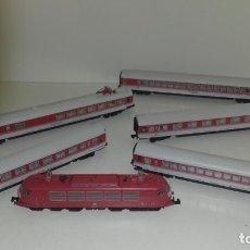 Trenes Escala: FLEISCHMANN N LOCOM BR 103 Y 5 VAGONES INTERCITY CON LUZ (CON COMPRA DE 5 LOTES O MAS, ENVÍO GRATIS). Lote 176582617