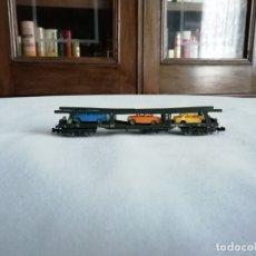 Trenes Escala: FLEISCHMANN N 8285 VAGÓN TRANSPORTE COCHES BUEN ESTADO. Lote 176733947