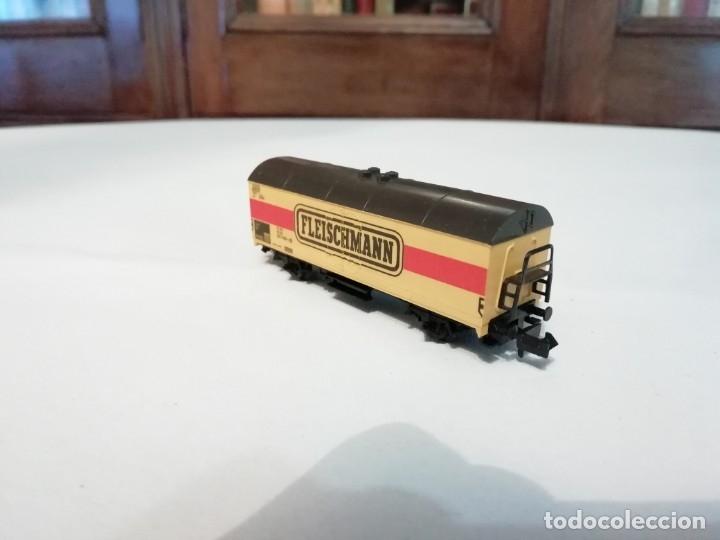Trenes Escala: Fleischmann N 9391Vagón Frigorífico Cerrado Amarillo Perfecto Estado - Foto 2 - 176734397