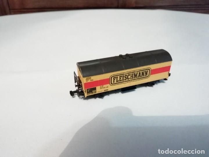 Trenes Escala: Fleischmann N 9391Vagón Frigorífico Cerrado Amarillo Perfecto Estado - Foto 4 - 176734397