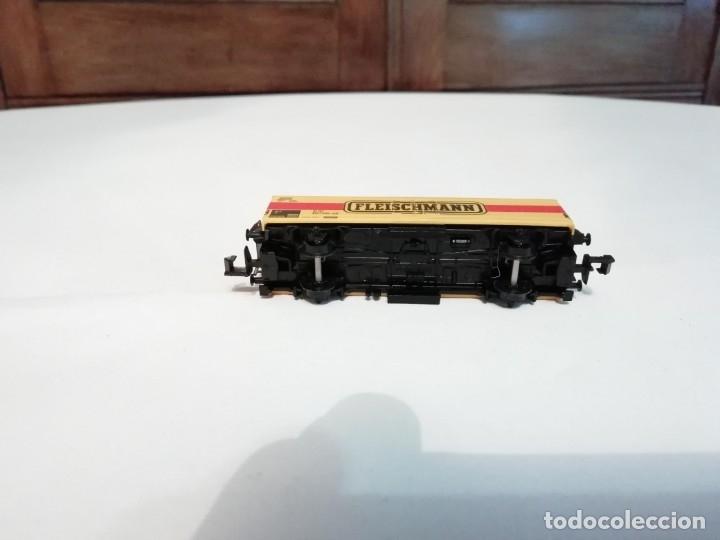 Trenes Escala: Fleischmann N 9391Vagón Frigorífico Cerrado Amarillo Perfecto Estado - Foto 5 - 176734397