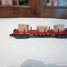 Trenes Escala: FLEISCHMANN N VAGÓN PLATAFORMA CAJAS PERSONALIZADO PERFECTO ESTADO. Lote 176735745