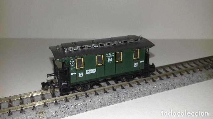 Trenes Escala: FLEISCHMANN N 2 vagones pasajeros 3ª 2 ejesL43-202-203(Con compra de 5 lotes o mas envío gratis) - Foto 3 - 180957378
