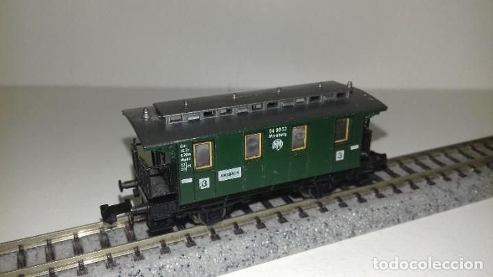Trenes Escala: FLEISCHMANN N 2 vagones pasajeros 3ª 2 ejesL43-202-203(Con compra de 5 lotes o mas envío gratis) - Foto 2 - 180957378