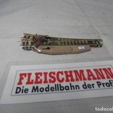Trenes Escala: DESVIO ELECTRICO DERECHO ESCALA N DE FLEISCHMANN . Lote 183584411