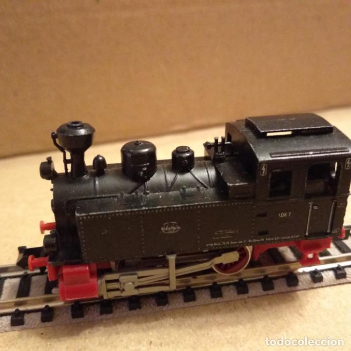 Trenes Escala: circuito fleischmann piccolo locomotora vagones shell trafo desvíos rectas curvas - Foto 2 - 183727202