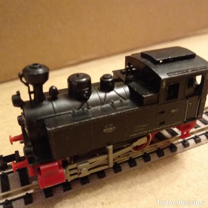 Trenes Escala: circuito fleischmann piccolo locomotora vagones shell trafo desvíos rectas curvas - Foto 3 - 183727202