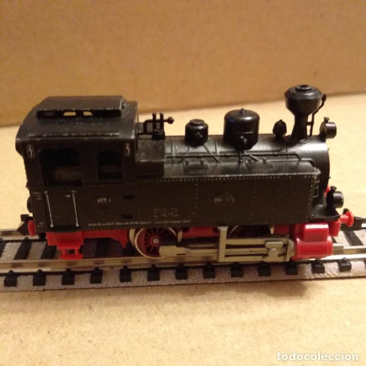 Trenes Escala: circuito fleischmann piccolo locomotora vagones shell trafo desvíos rectas curvas - Foto 4 - 183727202