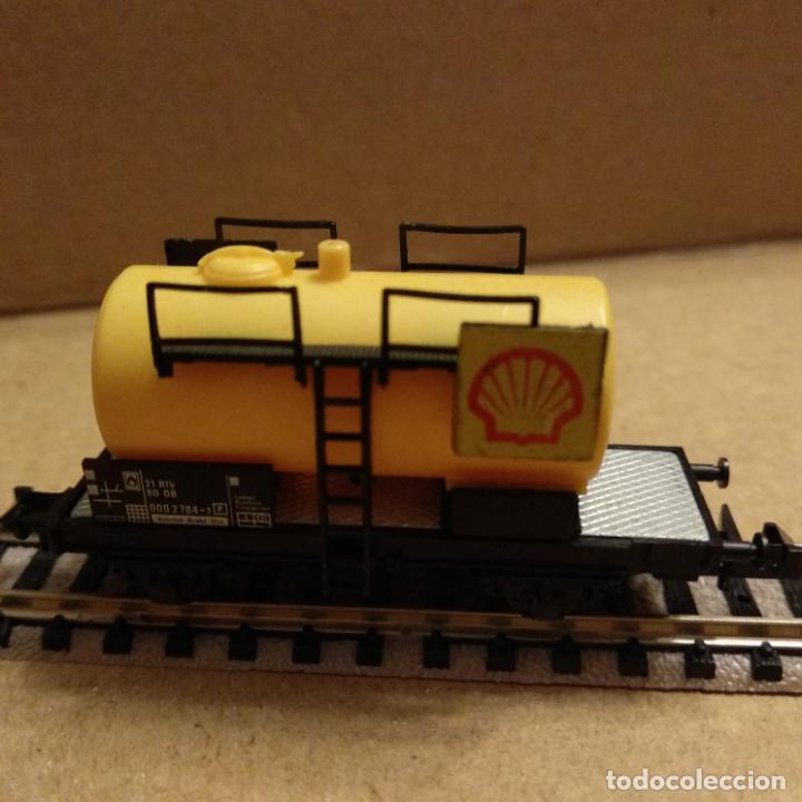Trenes Escala: circuito fleischmann piccolo locomotora vagones shell trafo desvíos rectas curvas - Foto 6 - 183727202