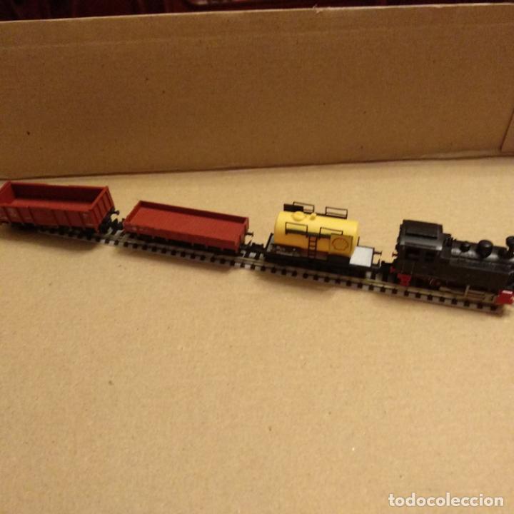 Trenes Escala: circuito fleischmann piccolo locomotora vagones shell trafo desvíos rectas curvas - Foto 7 - 183727202