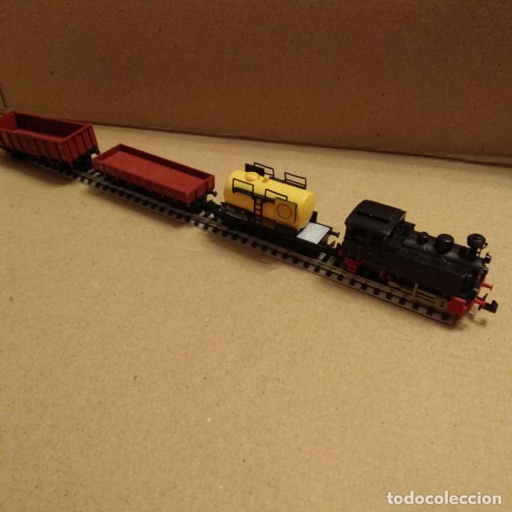 Trenes Escala: circuito fleischmann piccolo locomotora vagones shell trafo desvíos rectas curvas - Foto 8 - 183727202
