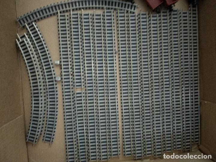 Trenes Escala: circuito fleischmann piccolo locomotora vagones shell trafo desvíos rectas curvas - Foto 11 - 183727202