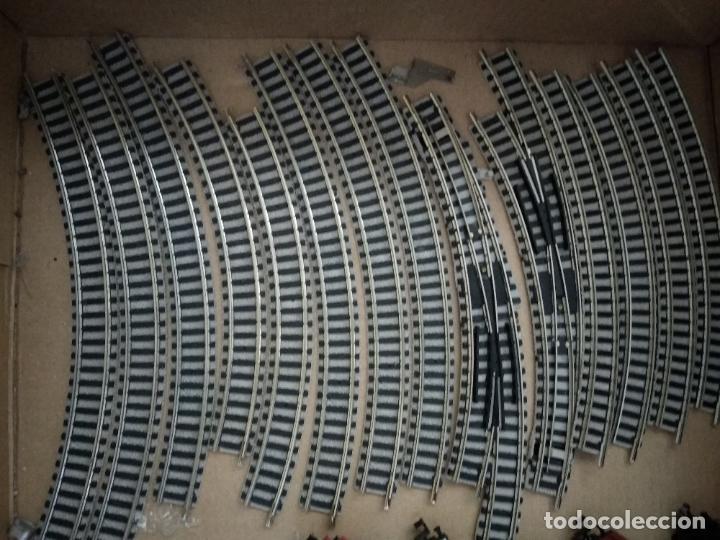 Trenes Escala: circuito fleischmann piccolo locomotora vagones shell trafo desvíos rectas curvas - Foto 12 - 183727202
