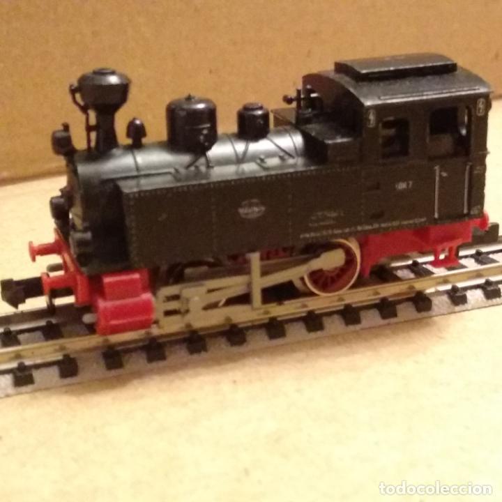 Trenes Escala: circuito fleischmann piccolo locomotora vagones shell trafo desvíos rectas curvas - Foto 16 - 183727202