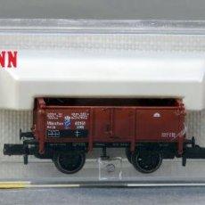 Trenes Escala: VAGÓN MERCANCÍAS BORDE MEDIO FLEISCHMANN N CON CAJA REF 8861. Lote 184447866