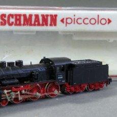 Trenes Escala: LOCOMOTORA VAPOR CON TENDER FLEISCHMANN N PICCOLO CON CAJA REF 7159 FUNCIONA. Lote 184448288