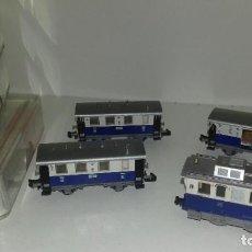 Trenes Escala: FLEISCHMANN N LOCO 7969 CON LIMPIAVIAS Y 3 VAGONESL44-117(C/ COMPRA DE 5 LOTES O MAS ENVÍO GRATIS). Lote 187098967