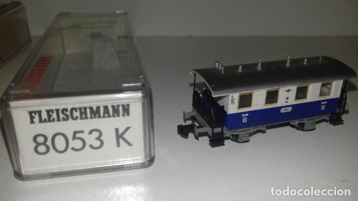 Trenes Escala: FLEISCHMANN N loco 7969 con limpiavias y 3 vagonesL44-117(C/ compra de 5 lotes o mas envío gratis) - Foto 7 - 187098967