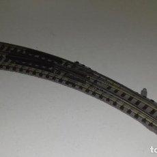 Trenes Escala: FLEISCHMANN N DESVIO MANUAL CURVO IZQL44-128 (CON COMPRA DE 5 LOTES O MAS ENVÍO GRATIS). Lote 187099471