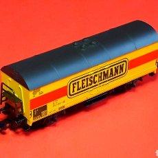 Trenes Escala: VAGÓN CERRADO FRIGORÍFICO 2 EJES, FLEISCHMANN MADE IN GERMANY, ESC. N, ORIGINAL AÑOS 90.. Lote 188769496