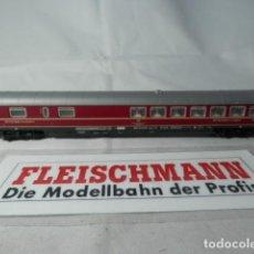 Trenes Escala: VAGÓN RESTAURANTE DE LA DB ESCALA N DE FLEISCHMANN CON LUZ . Lote 190882177