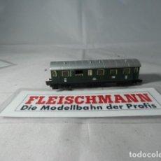 Trenes Escala: VAGÓN PASAJEROS 2 EJES ESCALA N DE FLEISCHMANN . Lote 191726290