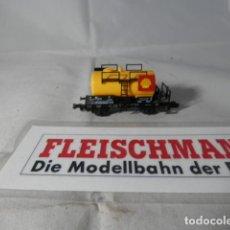 Trenes Escala: VAGÓN CISTERNA SHELL ESCALA N DE FLEISCHMANN . Lote 191814177