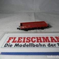 Trenes Escala: VAGÓN BORDE BAJO ESCALA N DE FLEISCHMANN . Lote 192293588