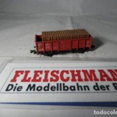 Trenes Escala: VAGÓN BORDE ALTO ESCALA N DE FLEISCHMANN . Lote 192293625