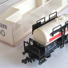Trenes Escala: FLEISCHMANN N VAGÓN CISTERNA .EN CAJA. VÁLIDO IBERTREN,ROCO,TRIX,ETC. Lote 192480772