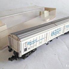 Trenes Escala: FLEISCHMANN N VAGÓN CARGA COMPUERTAS , EN CAJA.VÁLIDO IBERTREN,2N ROCO,FLEISCHMANN, ETC. Lote 192485198