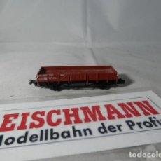 Trenes Escala: VAGÓN BORDE BAJO ESCALA N DE FLEISCHMANN . Lote 192695137
