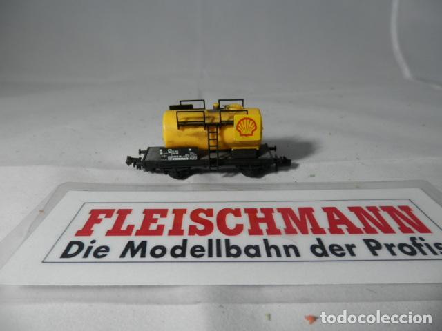 VAGÓN CISTERNA ESCALA N DE FLEISCHMANN (Juguetes - Trenes a Escala N - Fleischmann N)