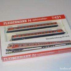 Trenes Escala: TREN FLEISCHMANN 7431 PICCOLO VT 614 DIESELTRIEBWAGEN H0. Lote 194752001