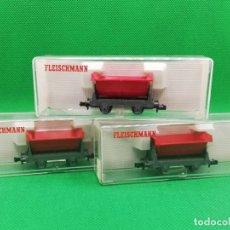 Trenes Escala: 3 VAGONETAS / TOLVAS FLEISCHMANN REF 8500 ESCALA N EN CAJA ORIGINAL. Lote 195154441