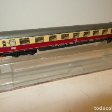 Trenes Escala: FLEISCHMANN VAGON PASAJEROS REF. 8162 IMPECABLE CON LUZ EN SU CAJA,REGALADO,FUNCIONA. Lote 203506176
