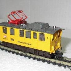 Trenes Escala: LOCOMOTORA MAQUINA TREN ANTIGUA ELECTRICA CON DISCOS CIRCULARES LIMPIEZA DE VIA ESCALA N FLEISCHMANN. Lote 204363035