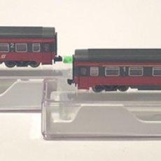 Trenes Escala: FLEISCHMANN SET VAGONES 1ª Y 2ª REFERENCIA 814463 Y 814466, ESCALA N. Lote 204463098