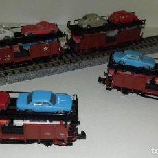 Trenes Escala: FLEISCHMANN N 3 PORTACOCHES 2 EJES --- L45-204 (CON COMPRA DE 5 LOTES O MAS, ENVÍO GRATIS). Lote 207540005