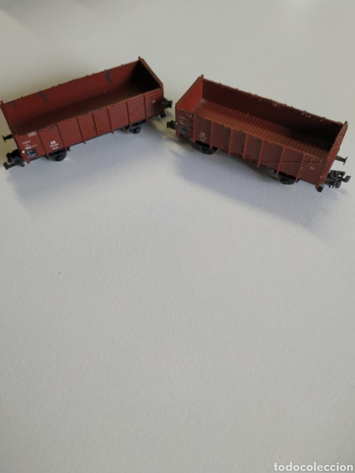 2 VAGONES BORDE ALTO FLEISCHMANN ESCALA N (Juguetes - Trenes a Escala N - Fleischmann N)